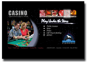 Northern Lights Casino web site design and development in Skagit County Washington State