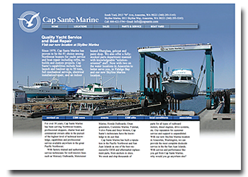 Cap Sante Marine web site design in Anacortes Washington