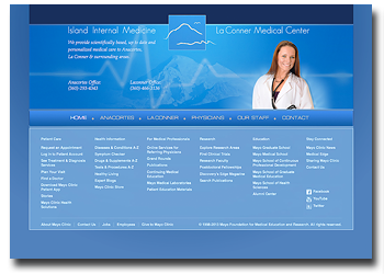 Island internal medicine and Laconner medical center web site