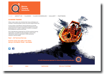 Q3 Marine Training Solutions web site design and development in Anacortes Washington